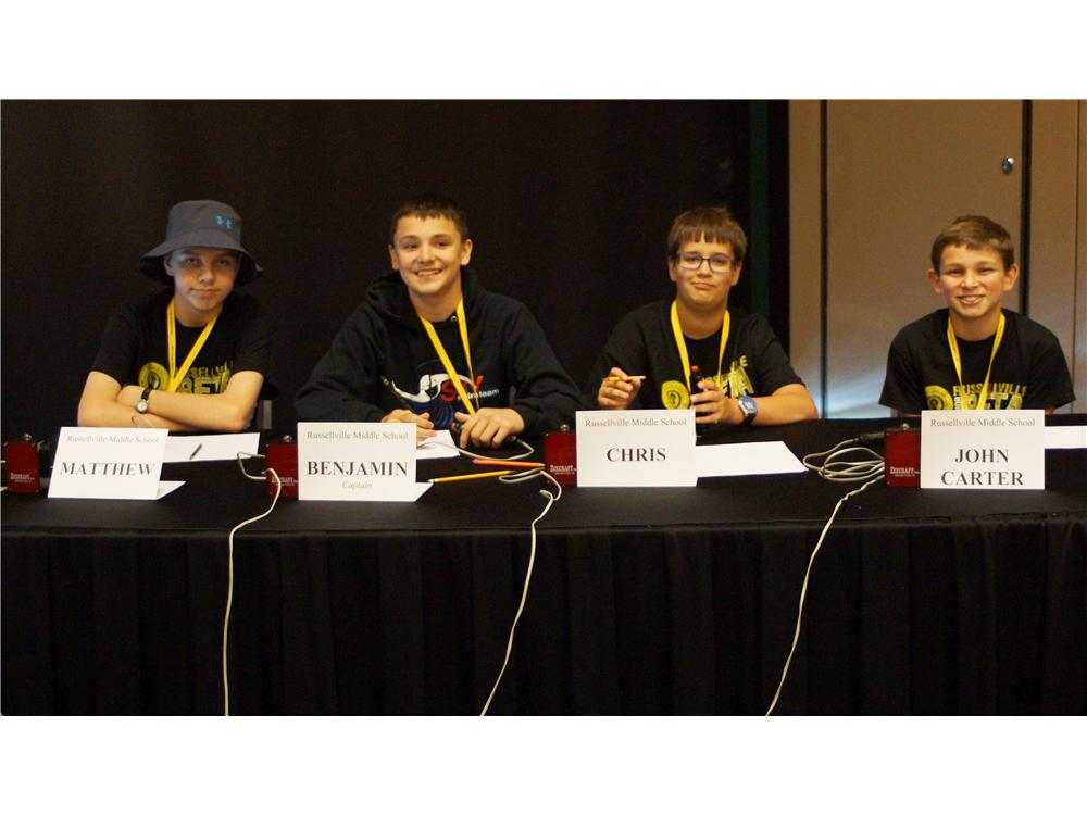 RMS Beta Quiz Bowl team finished second in nation